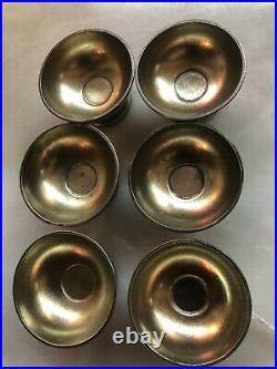 Set Of 6 Sterling Silver Sterling Tiffany & Co. Antique Salt Cellars