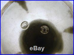 Set of 2 Hand Wrought ARAD Hungary Romanian Sterling Salt Cellar Turks Turban