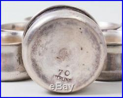 Set of 8 Sterling Silver Individual Personal Open Salt Cellars Monogrammed'B