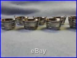 Set of 8 Tiffany & Co. Sterling Silver Bucket Form Salt Cellars withGilt Interiors