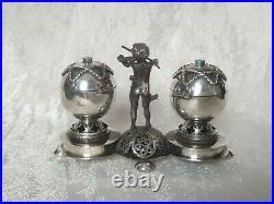 Silver russian salt and pepper cellar silver 84 judaica 1894