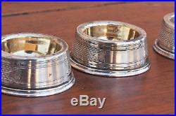 Six American Coin Silver Salt Cellars, Set of 6 in Original Case, Marked Coin