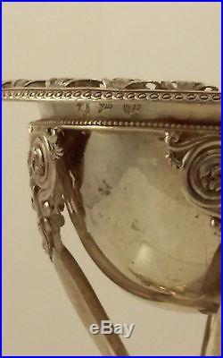 Special Italian Empire Silver Salt Cellar-Tommaso Panizza, Milan-Argenti d'epoca