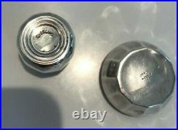 Sterling Boxed Set/6 Antique Salt Cellars, Salt Spoons, Pepper Shakers, Webster