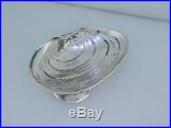 Sterling GORHAM Salt Cellar / Dish NARRAGANSETT Seashell with applied shells