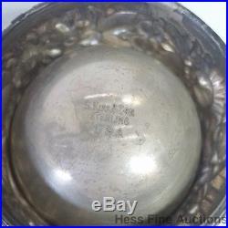 Sterling Silver Kirk Son 4pc Repousse Antique Salt Cellar Pepper Shaker Set
