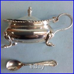 Sterling Silver Mustard Pot, Birmingham, England 1950