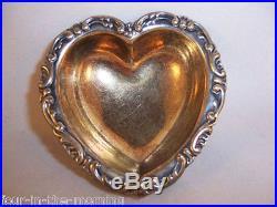 Sterling Silver Salt Cellar 1800's Dominick and Haff VICTORIAN HEART NESPRESSO
