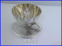 Sterling WHITING 3-D Water Lily Pad SALT CELLAR DISH holder AESTHETIC $195 each