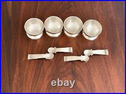 Sublime (4) Spratling Taxco Mexican Sterling Silver Salts & Spoons No Monogram