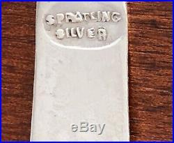 Sublime Spratling Taxco Mexican Sterling Silver Salt Cellar & Spoon No Mono