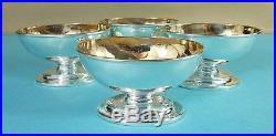 Superb Set 4 Georgian Sterling Silver Salt Cellars Wakeliin & Taylor London 1782