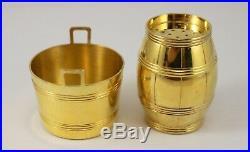 TIFFANY & CO Sterling Silver VERMEIL Salt Cellar & Pepper Shaker #24060 #24061