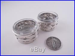 Tiffany Sterling Basket Weave Pair Of Salts Italy Figural Aesthetic