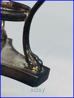 Tiffany & Co Italy Vintage Sterling Silver Lion Design Master Salt Cellar