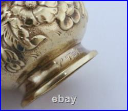 Tiffany & Co. Repousse Sterling Silver Salt Cellars 1873-1891 & Silver Shakers