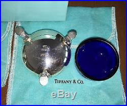 Tiffany & Co STERLING SILVER PEPPER CAN OPEN SALT CELLAR with Liner & SALT SPOON