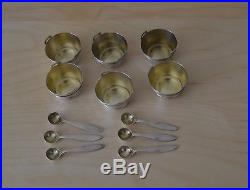 Tiffany & Co. Sterling Silver Bucket Form Salt Cellars and Spoons 6