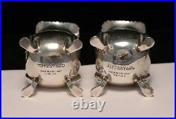 Tiffany & Co Sterling Silver Salt & Pepper Shakers & Salt Cellars Georgian Style