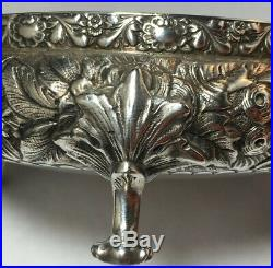 Tiffany Repousse Sterling Silver Large Size Open Salt cellar 19th Century