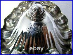 Tiffany Shell Footed Nautical Design Sterling Silver Open Salt Cellar
