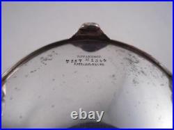 Tiffany Wave Edge Pattern Sterling Silver Master Salt Cellar Dish Antique Old