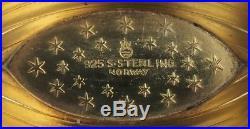 Two Norwegian Viking Ship Salt Cellars 925 Silver Thomas Olsen hallmark