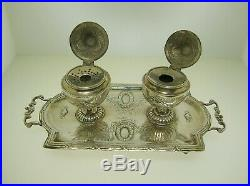 Unusual English And German Sterling Silver Inkwell Or Cellars 7 3/4 227 Grams