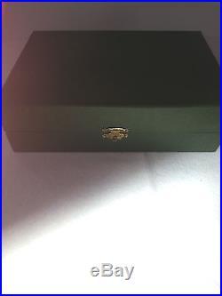 VINTAGE STERLING SILVER CHERUB/SHELL SALT CELLARS WithSPOONS ORIGINAL BOX (6)