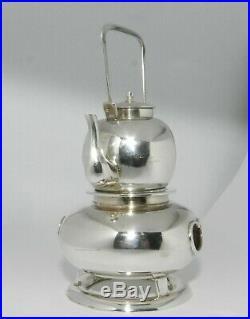 VTG Fine 950 Sterling Silver chanoyu Chagama Furo Miniature teapot Salt cellar