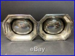 VTG Robert Ensko, New York, NY Sterling Silver One Pair Salts Cellars 235 Gram