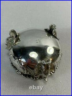 Very Rare c1852-1865 Gorham Coin Silver Salt Cellar w Whole Eagle Feet Crested