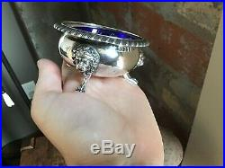 Victorian LION Gorham 92g Sterling Silver #38 Footed Salt Condiment Dish NO MONO
