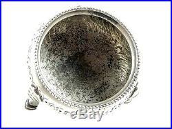 Victorian Sterling Silver Pair Of Open Salt Cellars London 1883