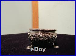 Vintage 1860-1890 Oomersi Mawji Bhuj Lions Feet Silver Salts