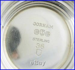 Vintage 1950s Gorham Pattern # 36 Sterling Silver Blue Cobalt Glass Salt Cellars