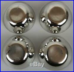 Vintage ANTON MICHELSON Danish Sterling Silver Enamel Salt Cellar Spoon 8-pc Set
