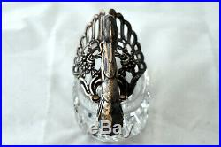 Vintage Albert Bodemer Sterling Silver Cut Crystal Swans Set of 3