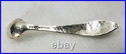 Vintage Antique Arts & Crafts Sterling Individual Silver Salt Dish Hand Hammered
