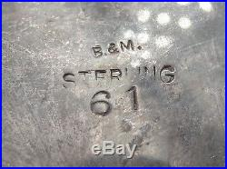 Vintage Baldwin & Miller Inc Sterling 2 Open Salts Cobalt Glass Liner Spoons