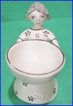 Vintage Emilia Castillo Salt Cellar Pair Circa 1997 Mexico Porcelain Silver