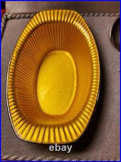 Vintage Frigast Sterling Yellow Enamel Denmark Salt Cellar And Shaker