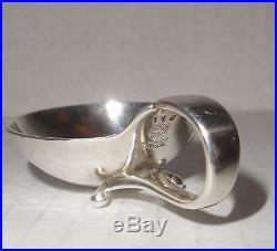 Vintage Georg Jensen Sterling Silver Salt Cellar & Pepper domed shaker set 667