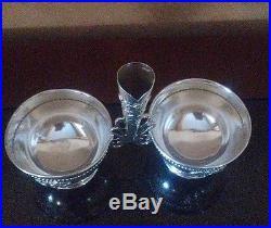 Vintage Judaica Esco Sterling Silver Pepper, Salt, Toothpick Holder/Server