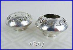 Vintage Navajo Native American sterling silver salt cellar pepper shaker