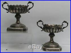 Vintage Pair Sweden Silver Master Salt Dishes