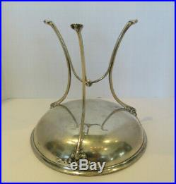 Vintage Sterling Silver Gorham Footed Tazza, Bon Bon Dish with Tripod Claw Feet