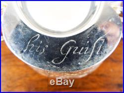 Vintage Sterling Silver Master Salt Cellar English 17th C Replica Inscribed Pot
