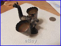 Vintage Sterling Silver Peru Lama Toothpick Holder Salt Pepper Cellar Figural