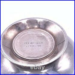 Vintage Tiffany & Co. Miniature Salt Cellar With Pineapple Finial Lid